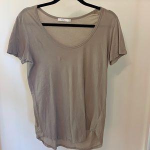 Aritzia Talula Taupe short sleeve T-shirt